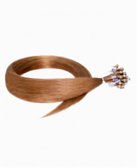 """Easy Loop Remy Human Hair Extension 18"""" - Straight - Excellence - Color 10"""