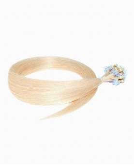 """Easy Loop Remy Human Hair Extension 18"""" - Straight - Excellence - Color 60"""