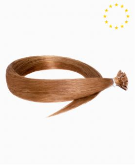 """Pre-bonded Remy Human Hair Extensions 22"""" - Straight - European - Color 10"""