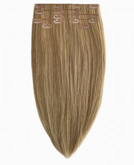 """Clip in Human Hair Extensions 18"""" (Set of 110 gr) Straight - Excellence - Color 14"""
