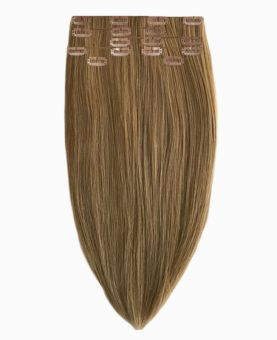 """Clip in Human Hair Extensions 18"""" (Set of 110 gr) Straight - Excellence - Color 10"""
