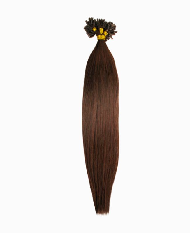 """Pre-bonded Remy Human Hair Extensions 18"""" - Straight - Premium - Color  4"""