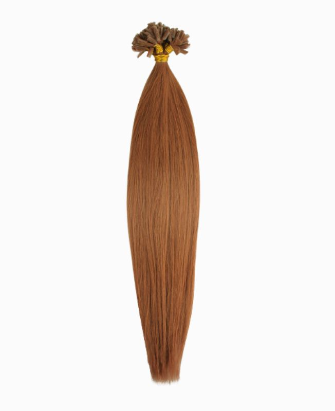 """Pre-bonded Remy Human Hair Extensions 18"""" - Straight - Premium - Color 10"""