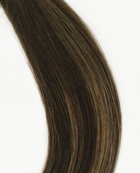 """Clip in Human Hair Extensions 18"""" (Set of 110 gr) Straight - Excellence - Color Balayage Tolyo"""