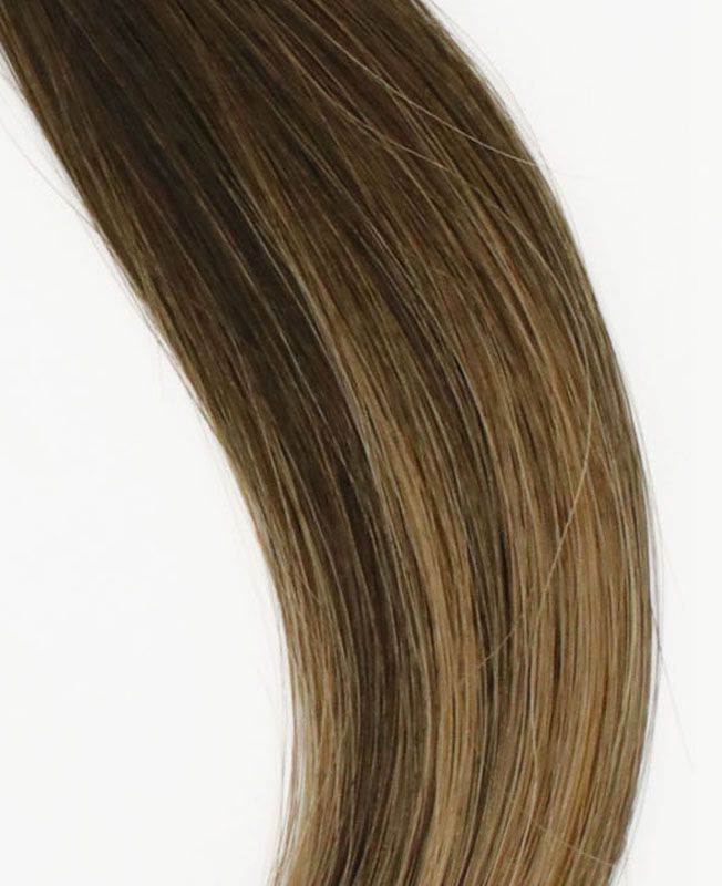 """Clip in Human Hair Extensions 18"""" (Set of 110 gr) Straight - Excellence - Color Balayage Berlin"""