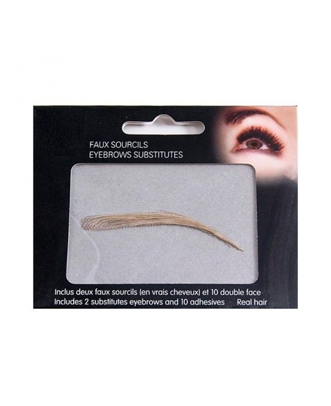 Faux sourcils semi-permanents à coller, 100 % naturel - Blond