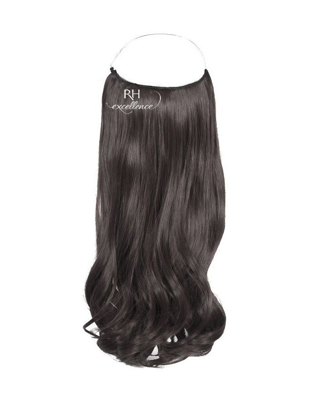 """Flip in Hair Extensions 18"""" (Set of 120 gr) Straight - Synthetic Fiber - Color 1B"""