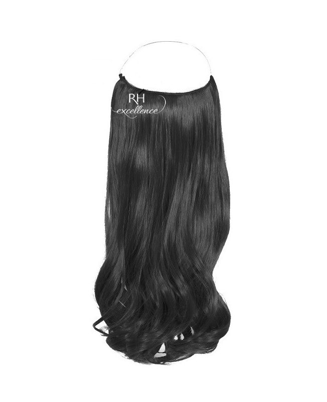 """Flip in Hair Extensions 18"""" (Set of 120 gr) Straight - Synthetic Fiber - Color 1"""