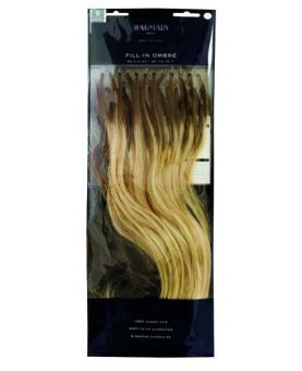 50 Extensions cheveux Balmain 40 cm - Kératine - Ombré Tie and Dye New York Blond clair / Chatain