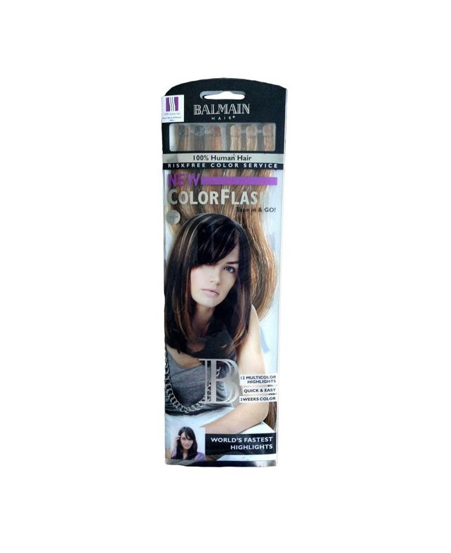 Color flash Balmain - 40 cm - Extension Bande adhésive - Tape - Honey blonde / Walnut