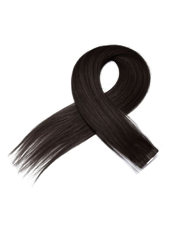 4 Tape in Hair Extensions 50 cm SOCAP - Straight - Color 1B