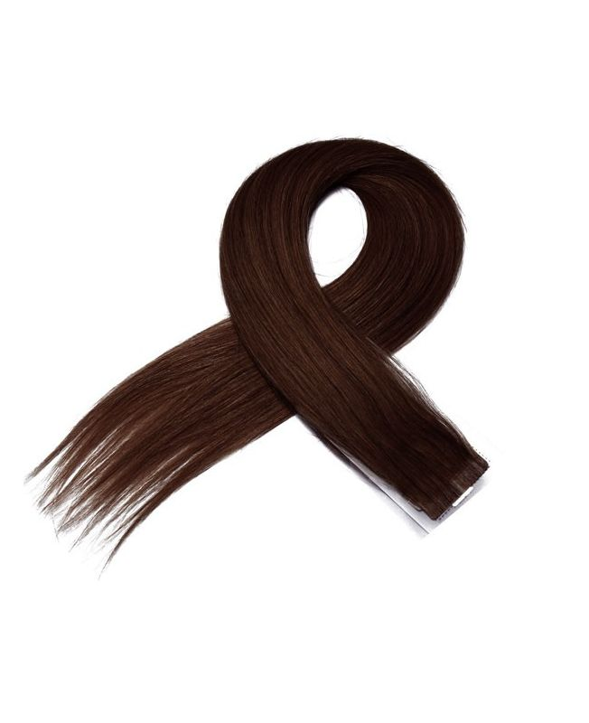 4 Tape in Hair Extensions 50 cm SOCAP - Straight - Color 4