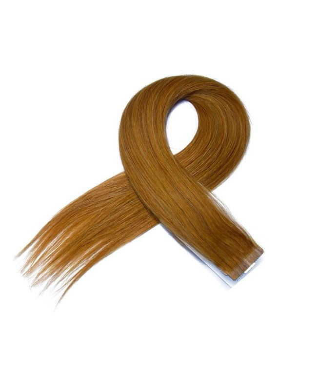 4 Tape in Hair Extensions 50 cm SOCAP - Straight - Color 14