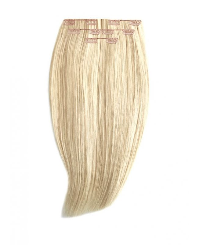 Extension à Clip Naturel 40 cm | Extension cheveux Lisse - Blond très très clair N°60