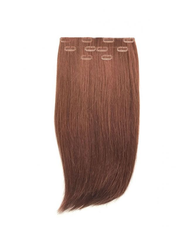 """Clip in Human Hair Extensions 16"""" (Set of 80 gr) Straight - Excellence - Color 33"""