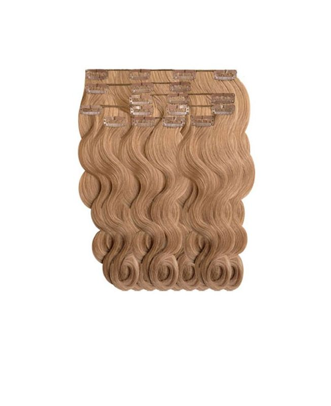 """Clip in Human Hair Extensions 18"""" (Set of 110 gr) Nature Wave - Excellence - Color 14"""