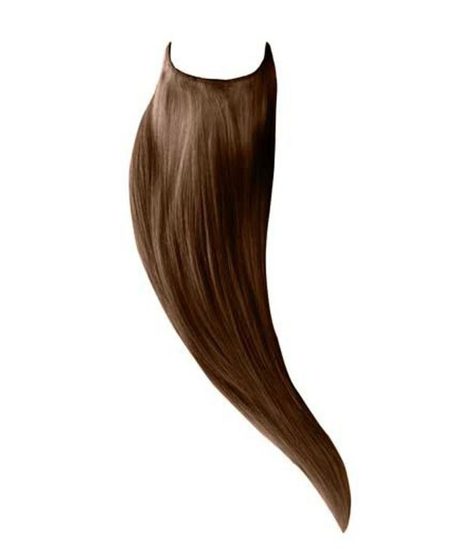 """Flip in Human Hair Extensions 18"""" (Set of 105 gr) Straight - Excellence - Color 6"""
