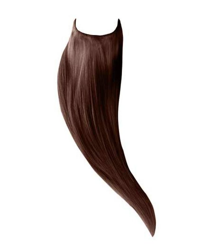 """Flip in Human Hair Extensions 18"""" (Set of 105 gr) Straight - Excellence - Color 4"""