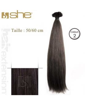 Extension cheveux Lisse - SHE - 10 Extensions kératine 50/60 cm - N° 2
