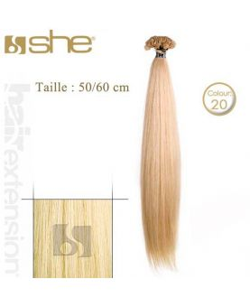 Extension cheveux Lisse - SHE - 10 Extensions kératine 50/60 cm - N° 20