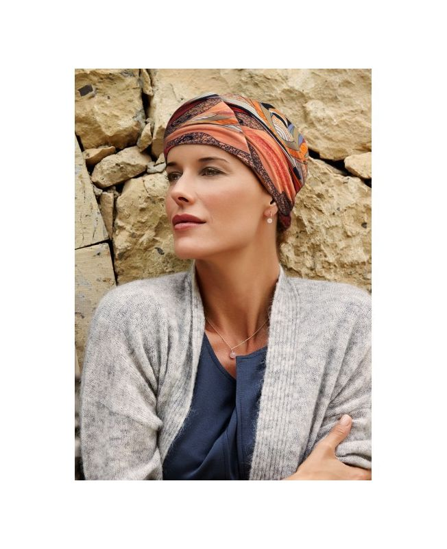 Turban / Scarf for Chemotherapy - Meda Red Summer - MIO Collection by Ellen Wille