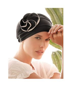 Turban / Foulard pour Chimiothérapie - Mora Black - Collection MIO by Ellen Wille