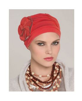 Turban / Foulard pour Chimiothérapie - Mora Red - Collection MIO by Ellen Wille