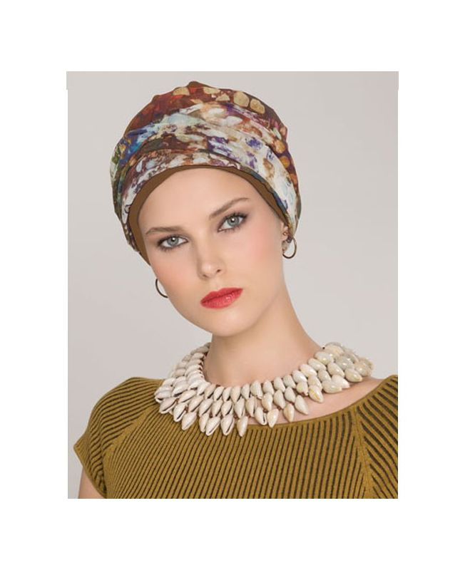 Turban / Scarf for Chemotherapy - Garbo Taupe - Latifa by Ellen Wille Collection