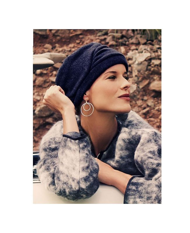 Turban / Scarf for Chemotherapy - Milva Blue - MIO Collection by Ellen Wille