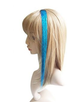 Extension a Clip - Crazy filament paillette - Bleu