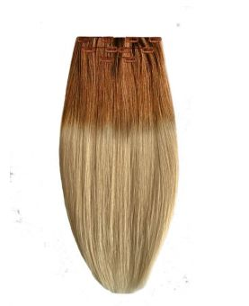 Extension à Clip Naturel 40 cm |  Extension cheveux Lisse - Blond Ombré N°613-14