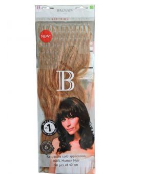 50 Extensions Cheveux a Froid - Balmain Hair - 40 cm - N° L8