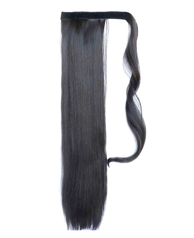 """Ponytail Synthetic Fiber 18"""" (Set Of 80 Gr) Straight - Color 2"""