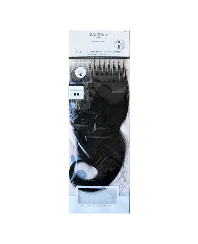 50 Extensions cheveux Balmain 40 cm - A Froid - Chatain doré N°3